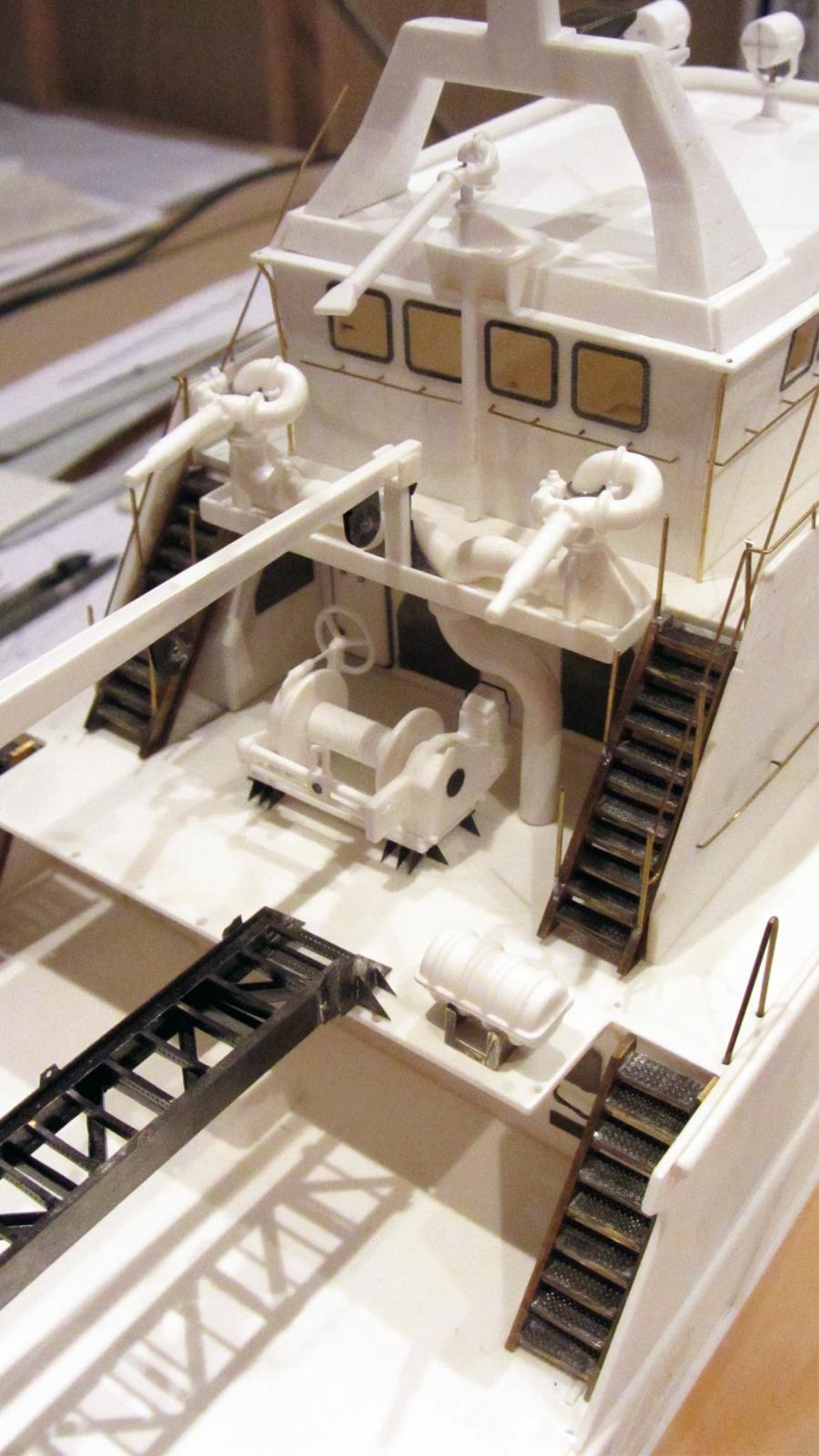 Details der Achterkante Aufbauten